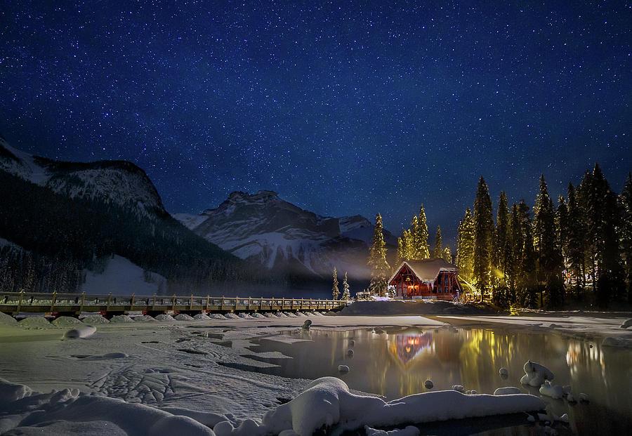 Yoho Photograph - A Starry Fairytale Land by Yi Jiang