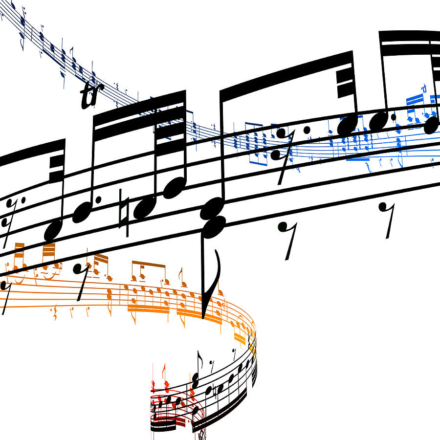 A Stave Of Music Digital Art by Ian Mckinnell