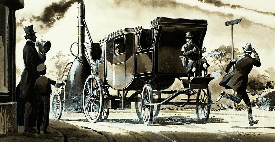A Steam Car From 1825 by Bill Lacey