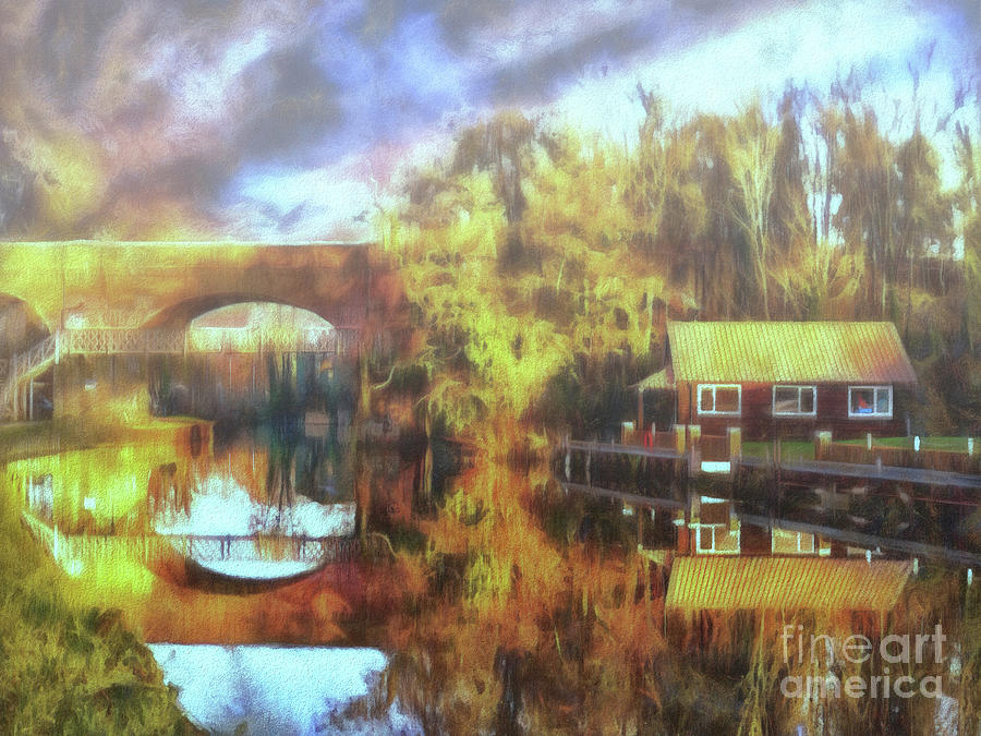 River Wey Photograph - A Stop Along The Wey by Leigh Kemp