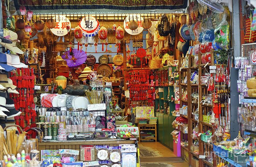 A Store Sells Chinese Craft Items by Yali Shi