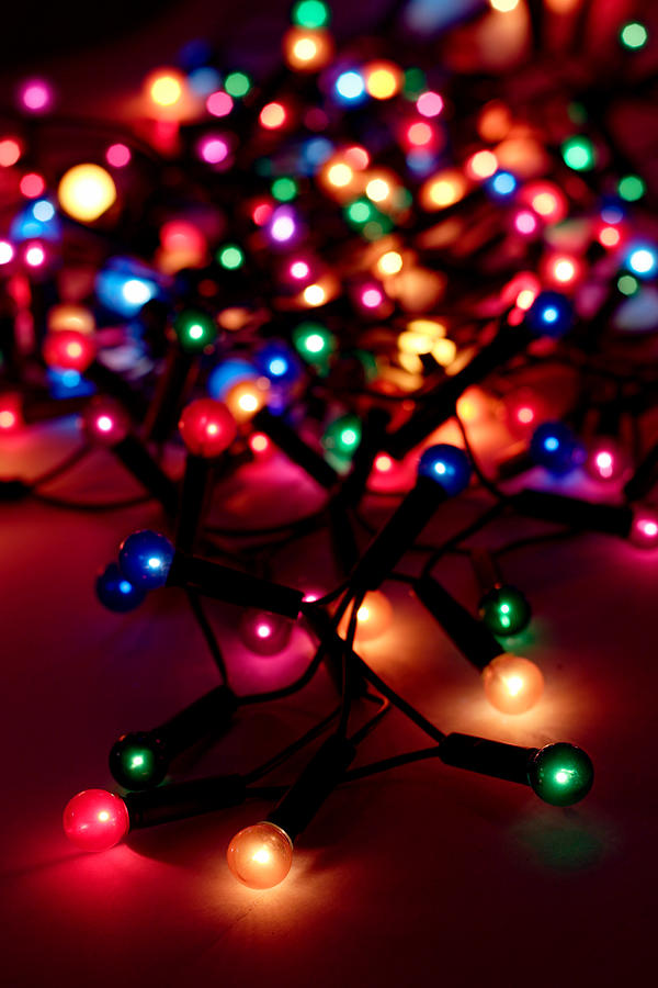 A String Of Christmas Lights Out For Photograph by Fizia
