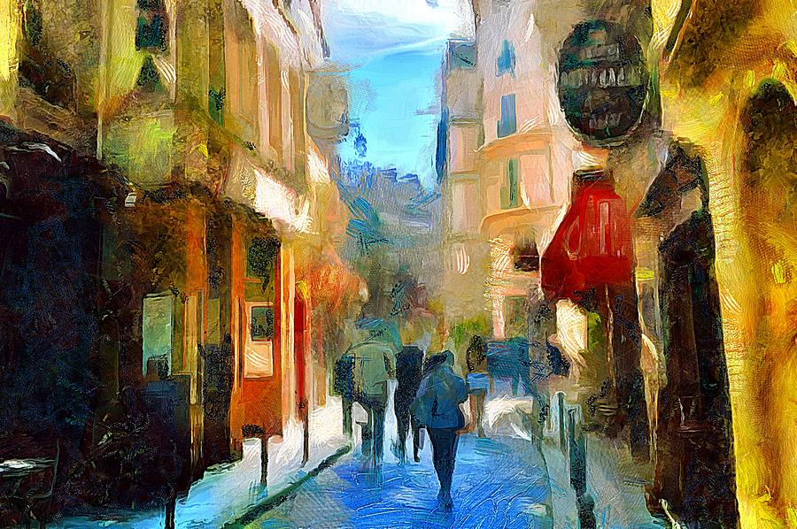 A Stroll in Paris by Wayne Pascall