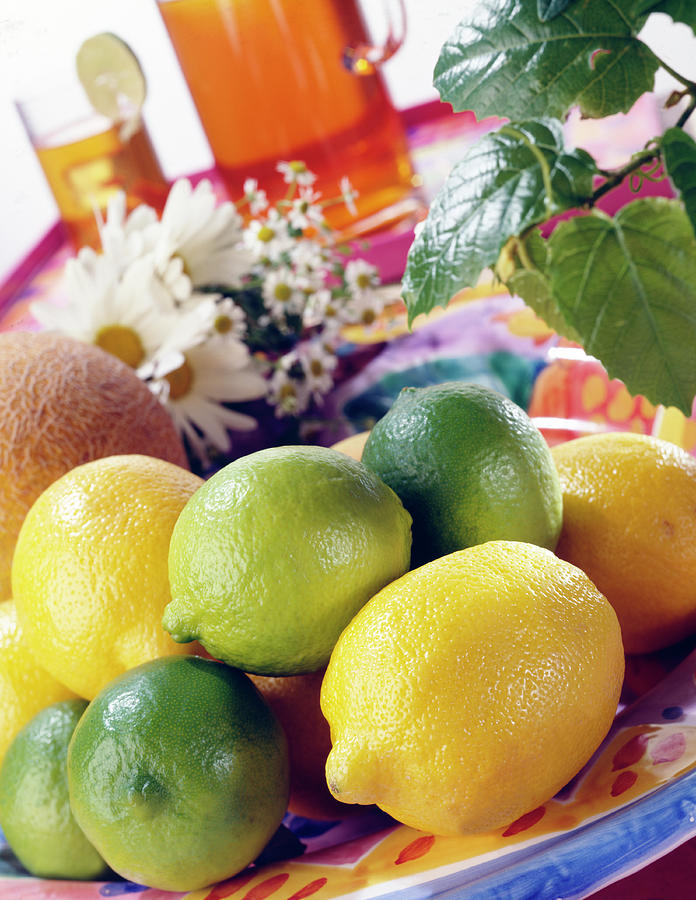 A Summer Table Setting With Lemons And Photograph by Steve Wisbauer