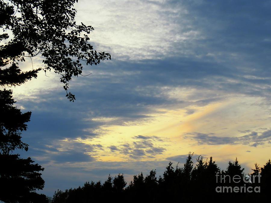 A Sunset In Petite Matane-gaspesie Photograph
