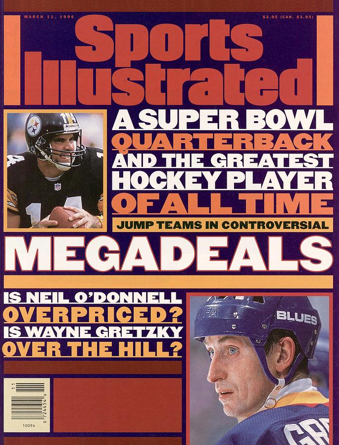 A Super Bowl Quarterback And The Greatest Hockey Player Of Sports Illustrated Cover Photograph by Sports Illustrated