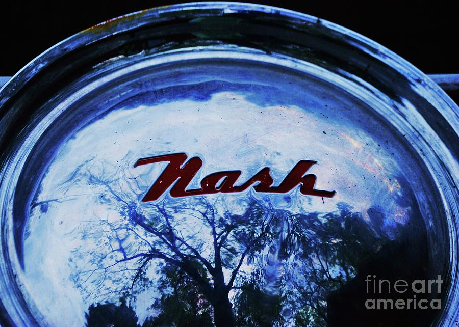 A Surreal Nash Hubcap Reflecting Trees Photograph By Poets Eye