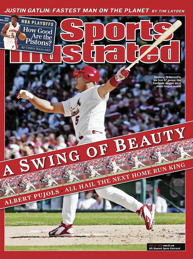 A Swing Of Beauty Albert Pujols, All Hail The Next Home Run Sports Illustrated Cover Photograph by Sports Illustrated
