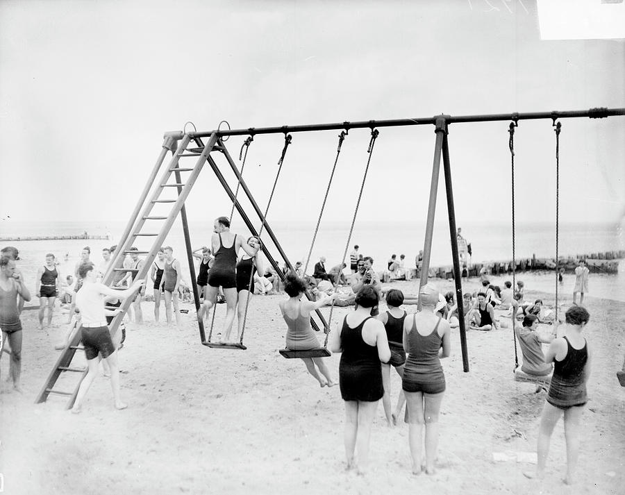 A Swinging Beach Photograph by Chicago History Museum