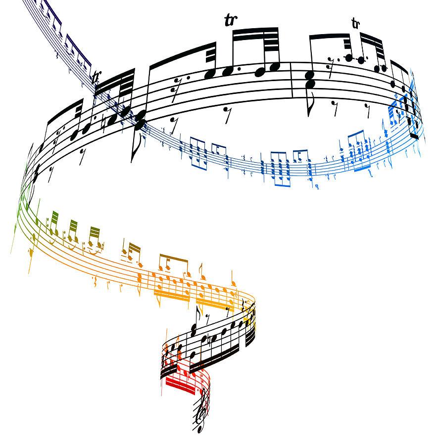 A Swirling Vortex Of Music Against A Digital Art by Ian Mckinnell