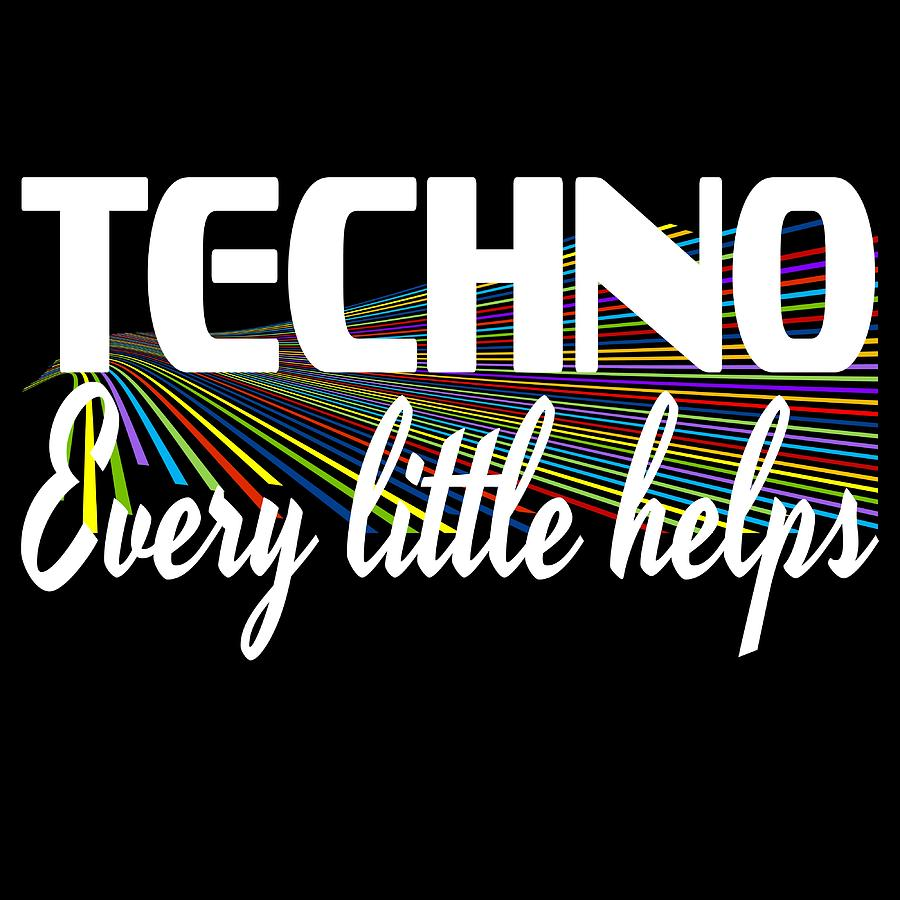 Techno T-Shirt EDM Music Lovers House Party Womens Festival DJ Tour Mens Tee