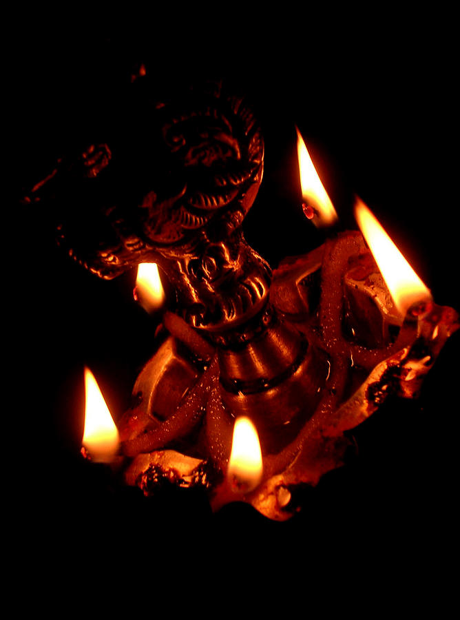 A Traditional South Indian Lamp Photograph by By Chandrachoodan Gopalakrishnan