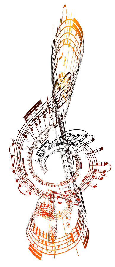 A Treble Clef Made From Sheet Music Digital Art by Ian Mckinnell