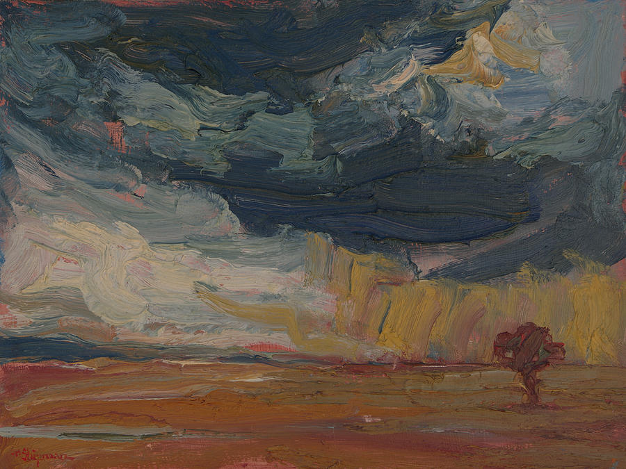 A Tree Takes Root in the Wind-Swept Prairie by Michael Shipman