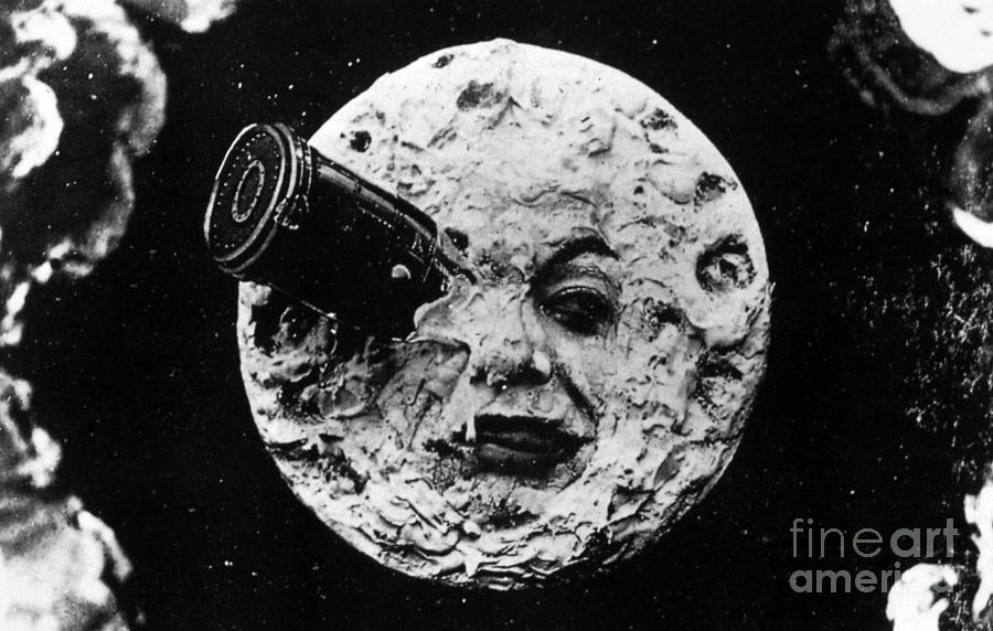 A Trip To The Moon Photograph - A Trip To The Moon, 1902  by French School