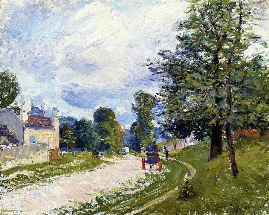 Alfred Sisley Painting - A Turn In The Road - Digital Remastered Edition by Alfred Sisley