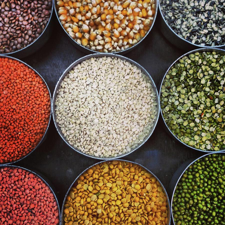 A Variety Of Lentils Photograph by Anshu Ajitsaria