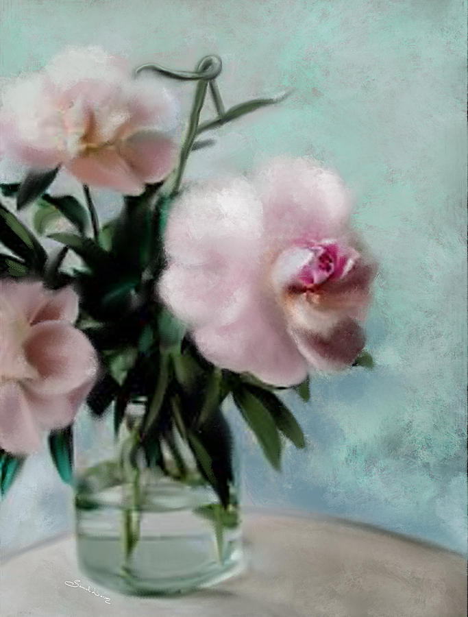 A Vase of Peonies by Sannel Larson