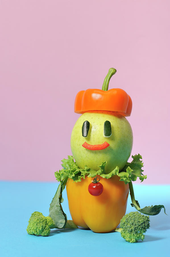 A Vegetable Doll Photograph by Yagi Studio