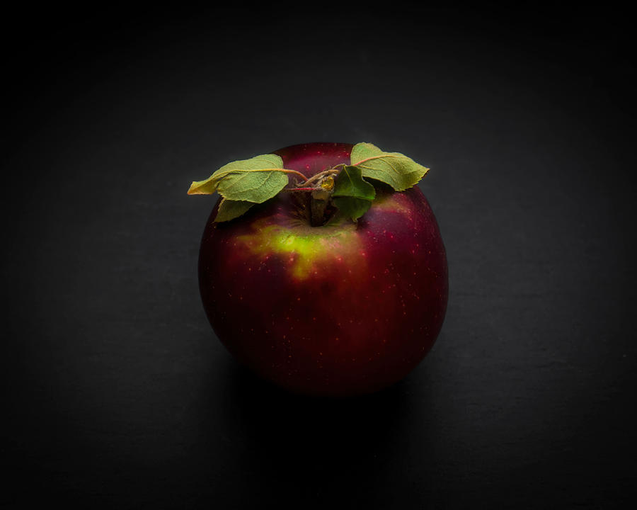 A very red apple by Alessandra RC