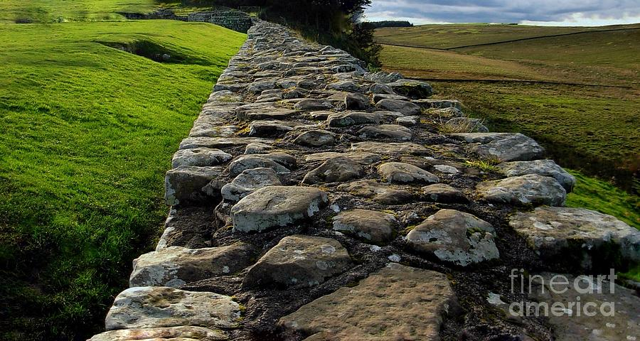 A View Along Hadrian's Wall by Joan-Violet Stretch