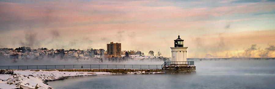 A View of Bug Light and Portland by Darylann Leonard Photography