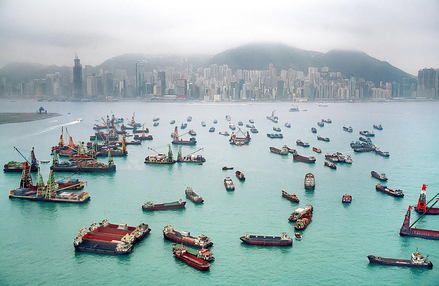 A View Of Hong Kong Harbor Through A Photograph by Xpacifica