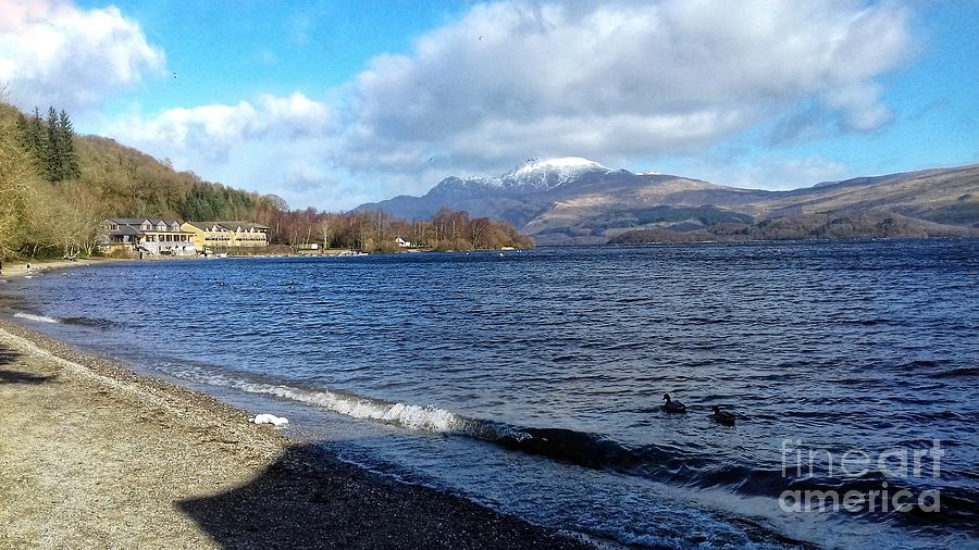 A View of Loch Lomond at Luss by Joan-Violet Stretch
