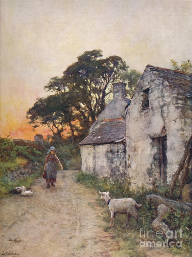 A Village Lane Drawing by Print Collector