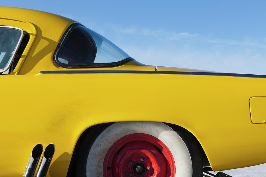 Vehicle Part Photograph - A Vintage Studebaker Race Car,rear by Mint Images - Paul Edmondson
