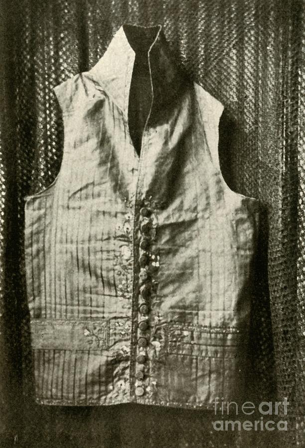 A Waistcoat Worn By Count Lemcke Drawing by Print Collector