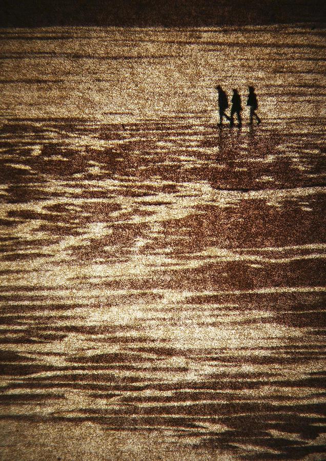 Tide Photograph - A Walk by Bror Johansson