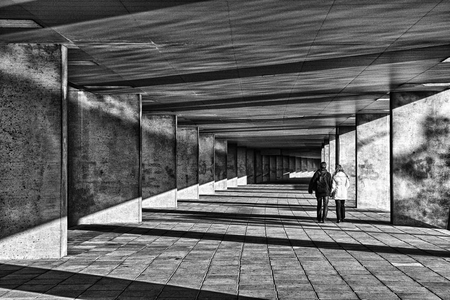 Street Photograph - A Walk In The Gallery by Eric Mattheyses