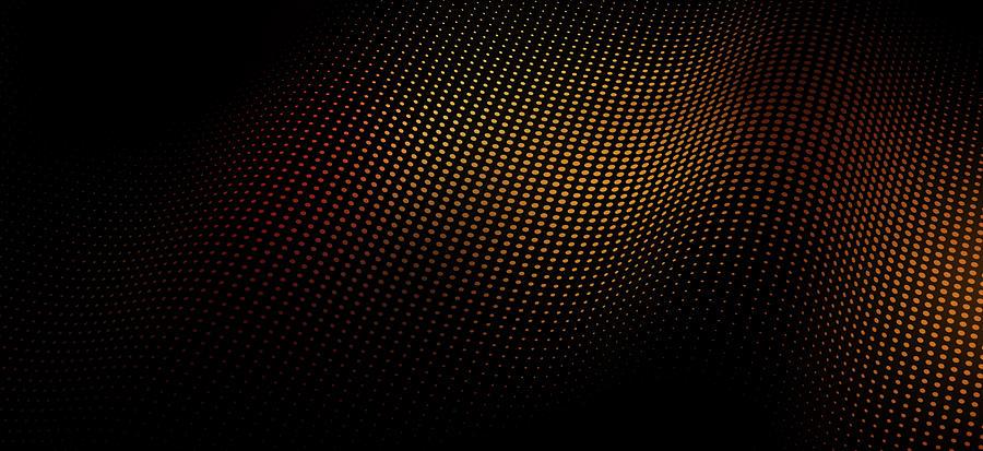 A Wave Pattern Of Dots Over Shadow Digital Art by Ralf Hiemisch