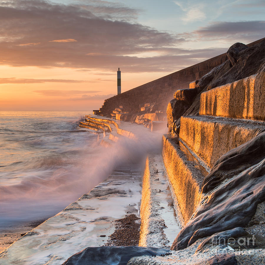 Waves Photograph - A Wave Rushes Towards The Viewer Along by Izzy Standbridge
