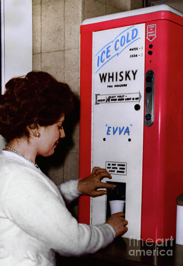 A Whisky Vending Machine from the 50's by Doc Braham