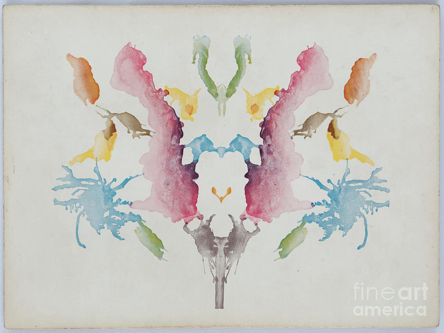 A White Background With Colorful Ink Photograph by Zmeel
