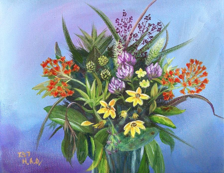 Wildflowers Painting - A Wild Bunch 2 by Helian Osher