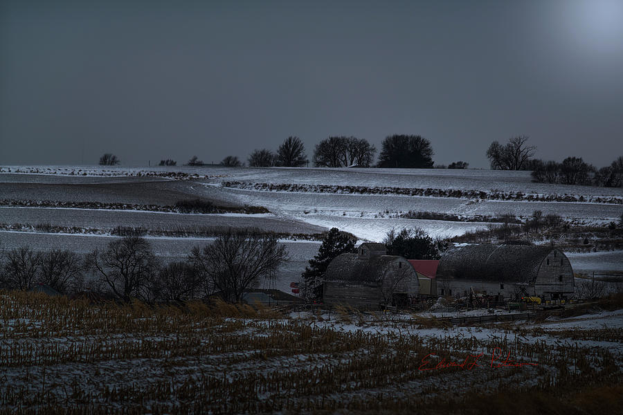 A Winter Country Night by Edward Peterson