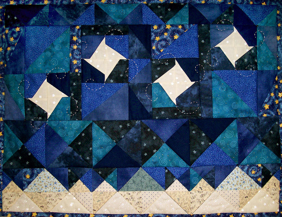 A Winter Snowscape Tapestry - Textile by Pam Geisel