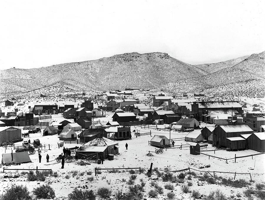 A Wintery view of Randsburg, CA - circa. 1900 by Doc Braham