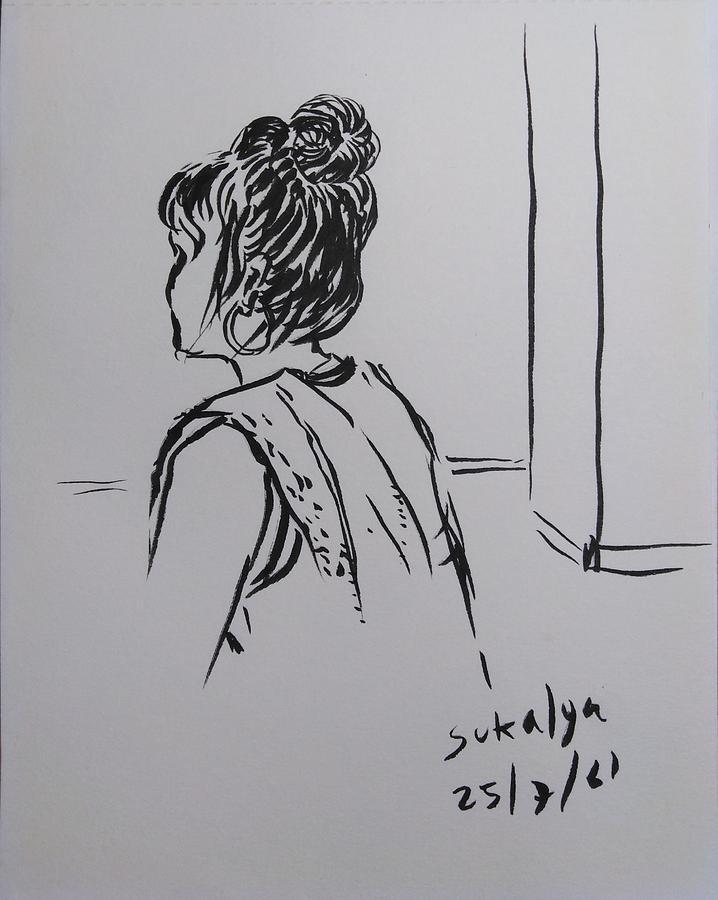 A woman at the gym by Sukalya Chearanantana