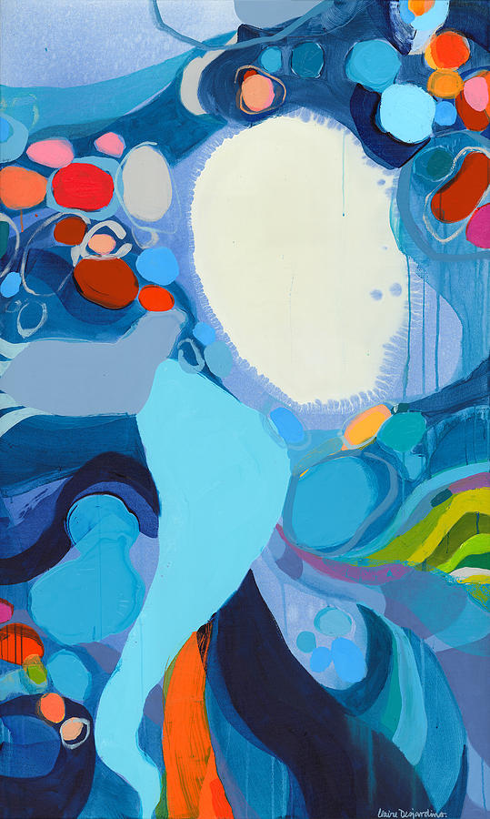 Abstract Painting - A Woman Named Emory by Claire Desjardins