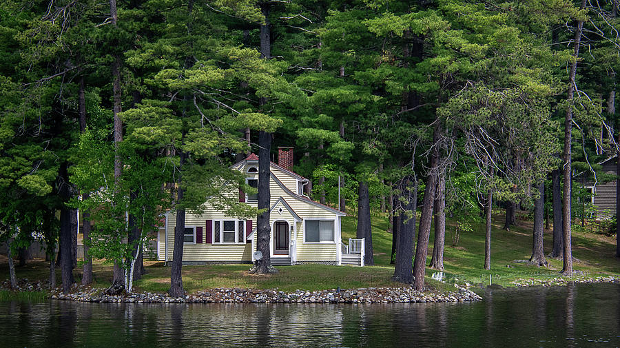 A Yellow House On A Quiet Lake by Guy Whiteley