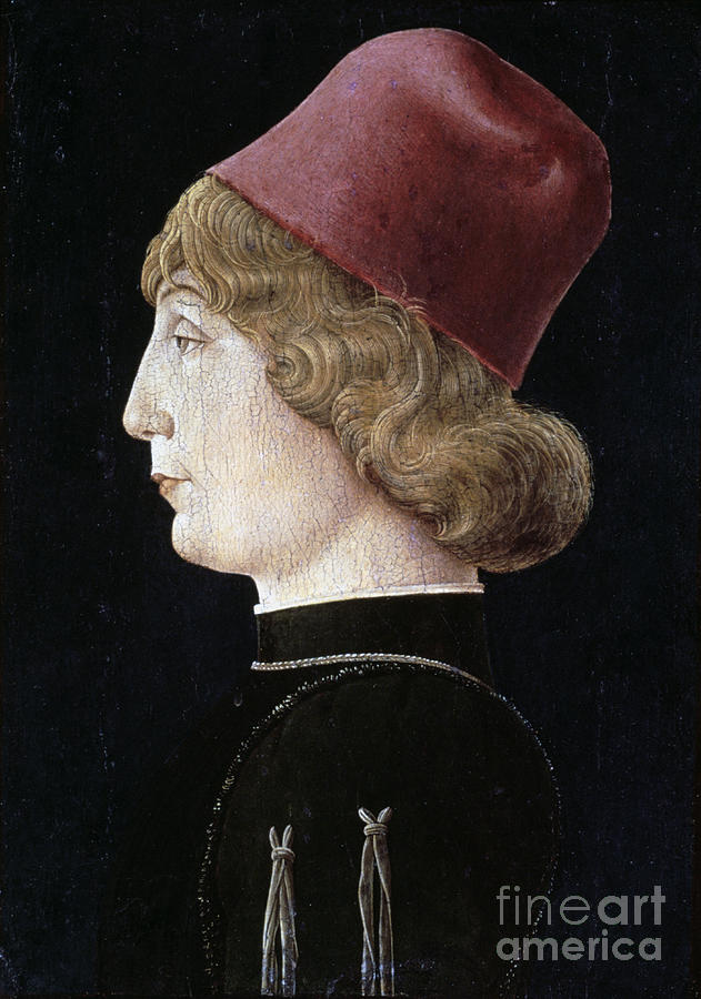 A Young Man, C1460. Artist Cosmè Tura Drawing by Print Collector
