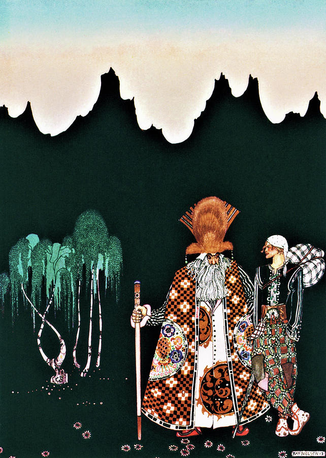 Prince Painting - A Young Man Who Meets A Strange Man by Kay Nielsen