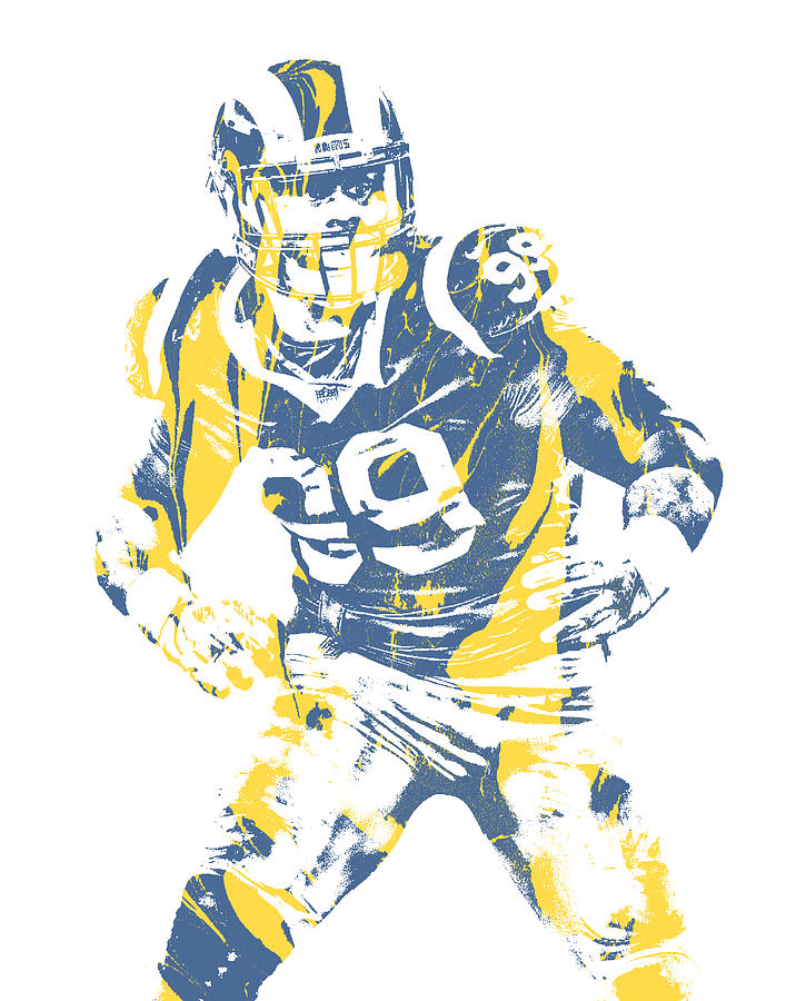 Aaron Donald Los Angeles Rams Pixel Art 13