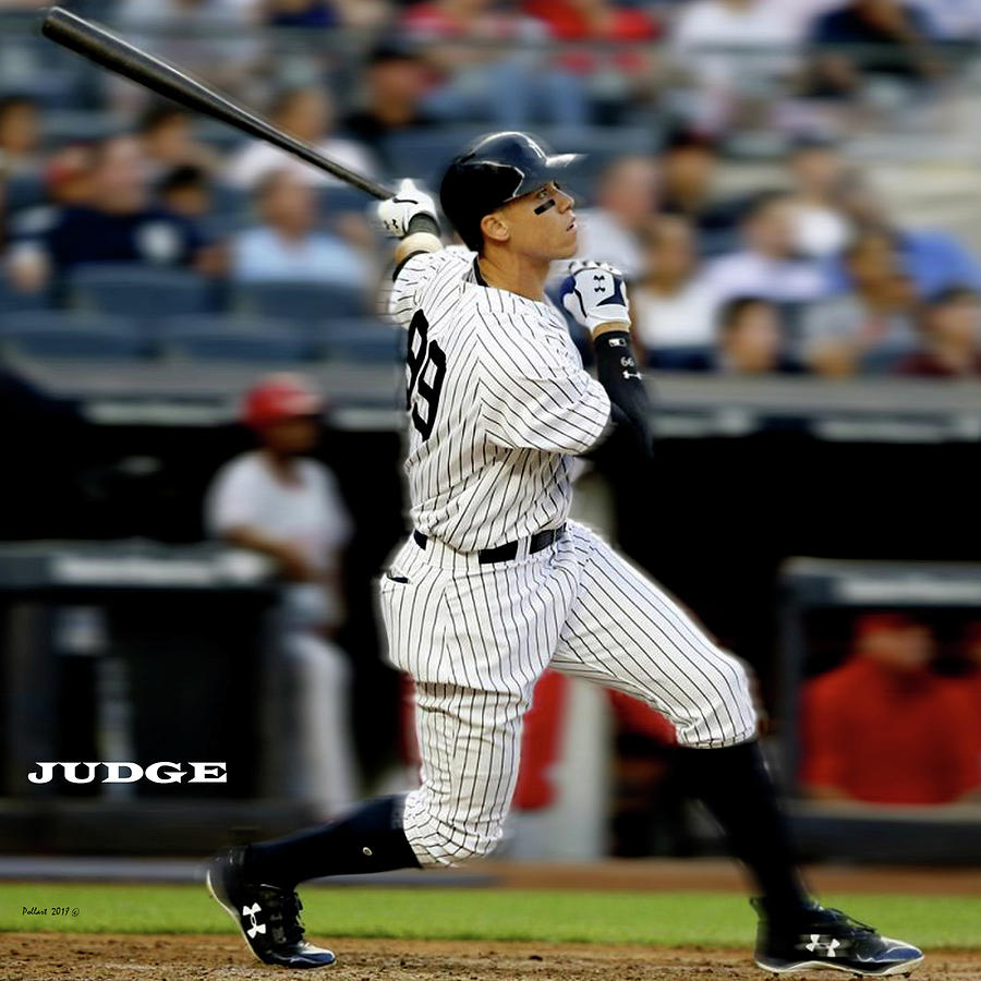 New York Yankees Mixed Media - Home Run, Aaron Judge, The Judge by Thomas Pollart