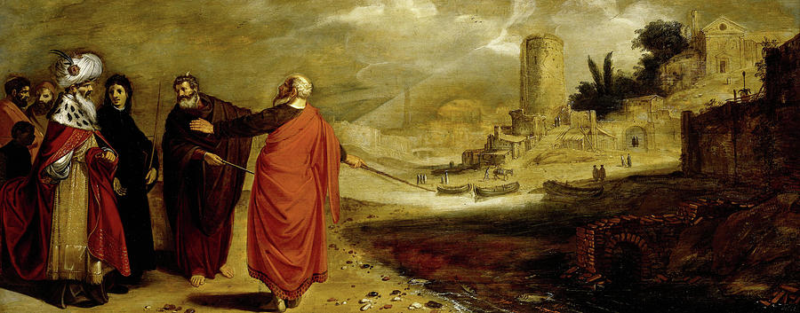 Transforming Painting - Aaron Transforming The Water Of The Nile Into Blood, 1610 by Jan Symonsz Pynas