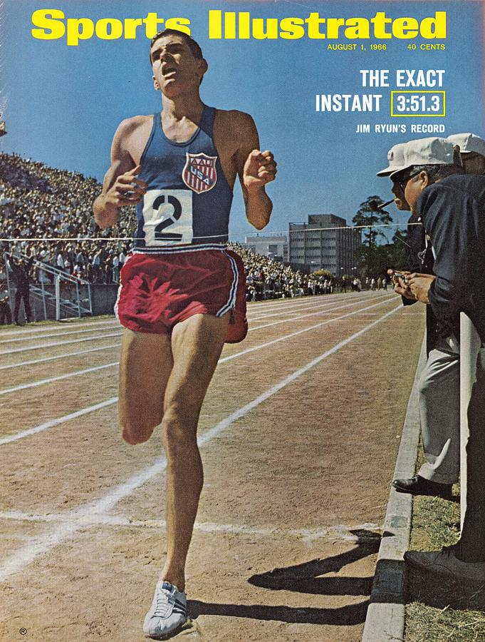 Aau Jim Ryun, 1966 All Star Invitational Meet Sports Illustrated Cover Photograph by Sports Illustrated